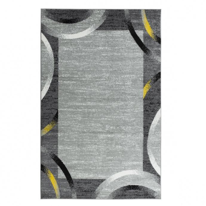 Tapis contemporain et géométrique (Jaune)