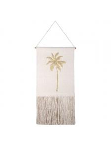 Décoration murale imprimée palmier doré