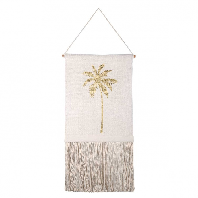 Décoration murale imprimée palmier doré (Beige)