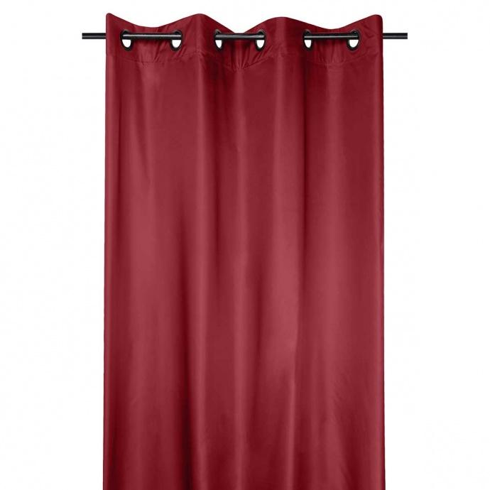 Cortina ocultante y térmica de tejido recubierto (Rojo)
