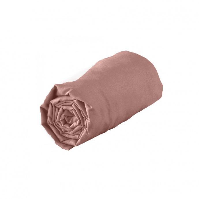 Drap housse en coton biologique certifié (Blush)