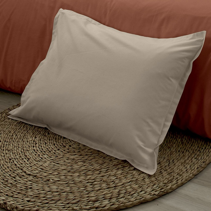 Taie d'oreiller en 100% coton biologique (Ficelle)