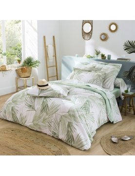 Parure de lit imprimé À l'Ombre Vert