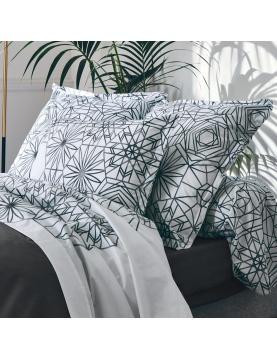 Drap plat aux motifs floraux et graphiques