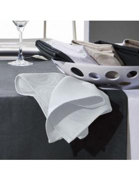 Lot de 3 serviettes de table spirale