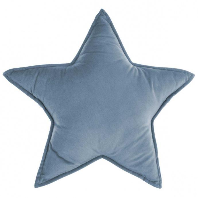 Coussin déhoussable étoile (Bleu Gris)