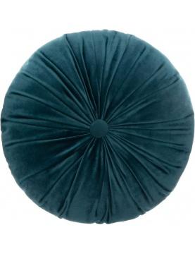 Coussin rond en velours plissé
