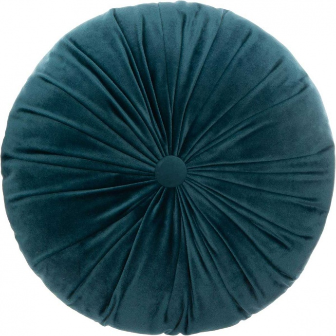 Coussin rond en velours plissé (Canard)