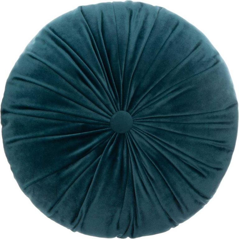Coussin rond en velours plissé, (Canard)