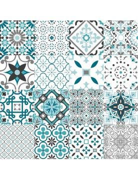 Sous Nappe Imprimée patchwork géométrique