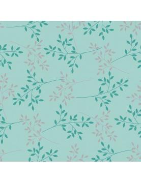 Toile Cirée Métallisée et fleurie (Anthracite)