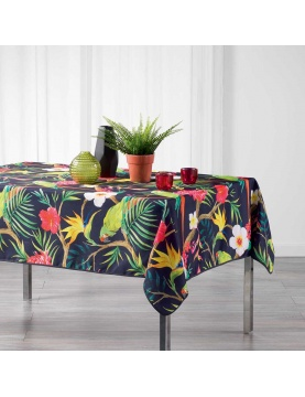 Nappe rectangulaire impressions tropicales