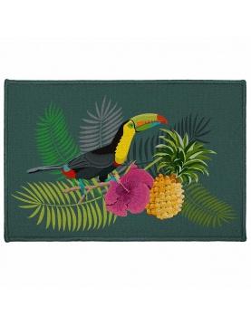 Tapis décoratif rectangulaire toucan