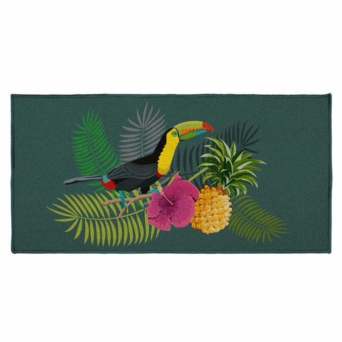 Tapis décoratif rectangulaire toucan ( Multicolore)
