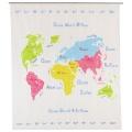 Rideau de douche mappemonde (Multicolore)