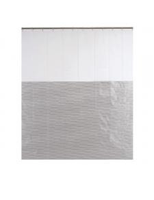 Rideau de douche à fines rayures argentées
