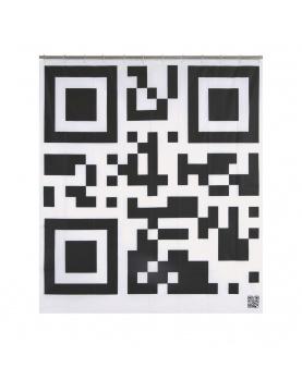 Rideau de douche imprimé flash code