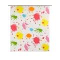 Rideau de douche imprimé taches de peinture ( Multicolore)