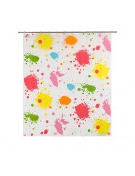 Rideau de douche imprimé taches de peinture