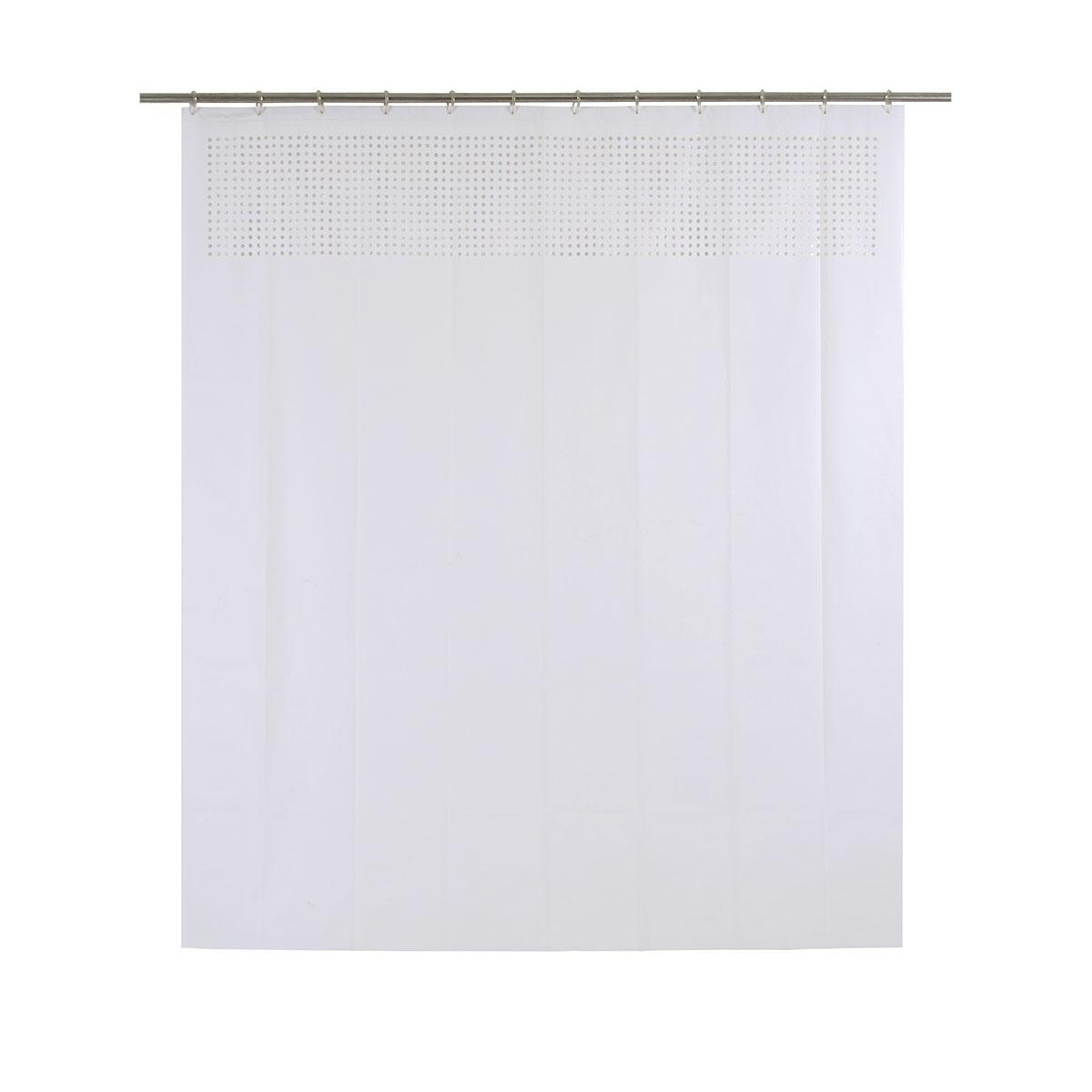 Rideau de douche esprit loft (Blanc)