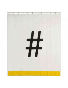 Rideau de douche Hashtag