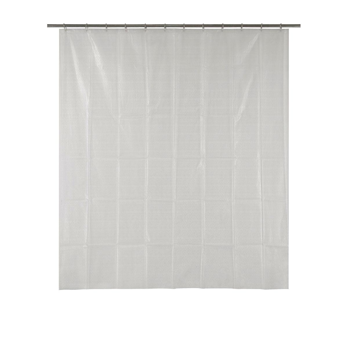 Rideau de douche avec lignes en 3D (Transparent)