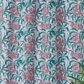 Cortina estampado hoja flores (Rosa)