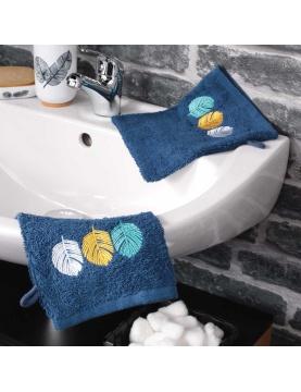 Lot de 2 gants de toilette brodés