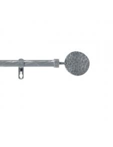 Kit de tringle déco avec embouts ronds martelés