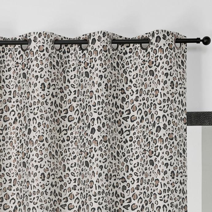 Cortina estampado moteado jaguar (Gris claro)