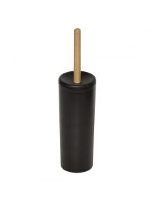 Pot et balai de toilette en ébonite et bois