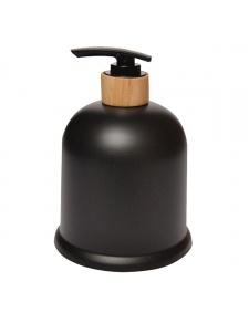 Distributeur de savon en ébonite et bois