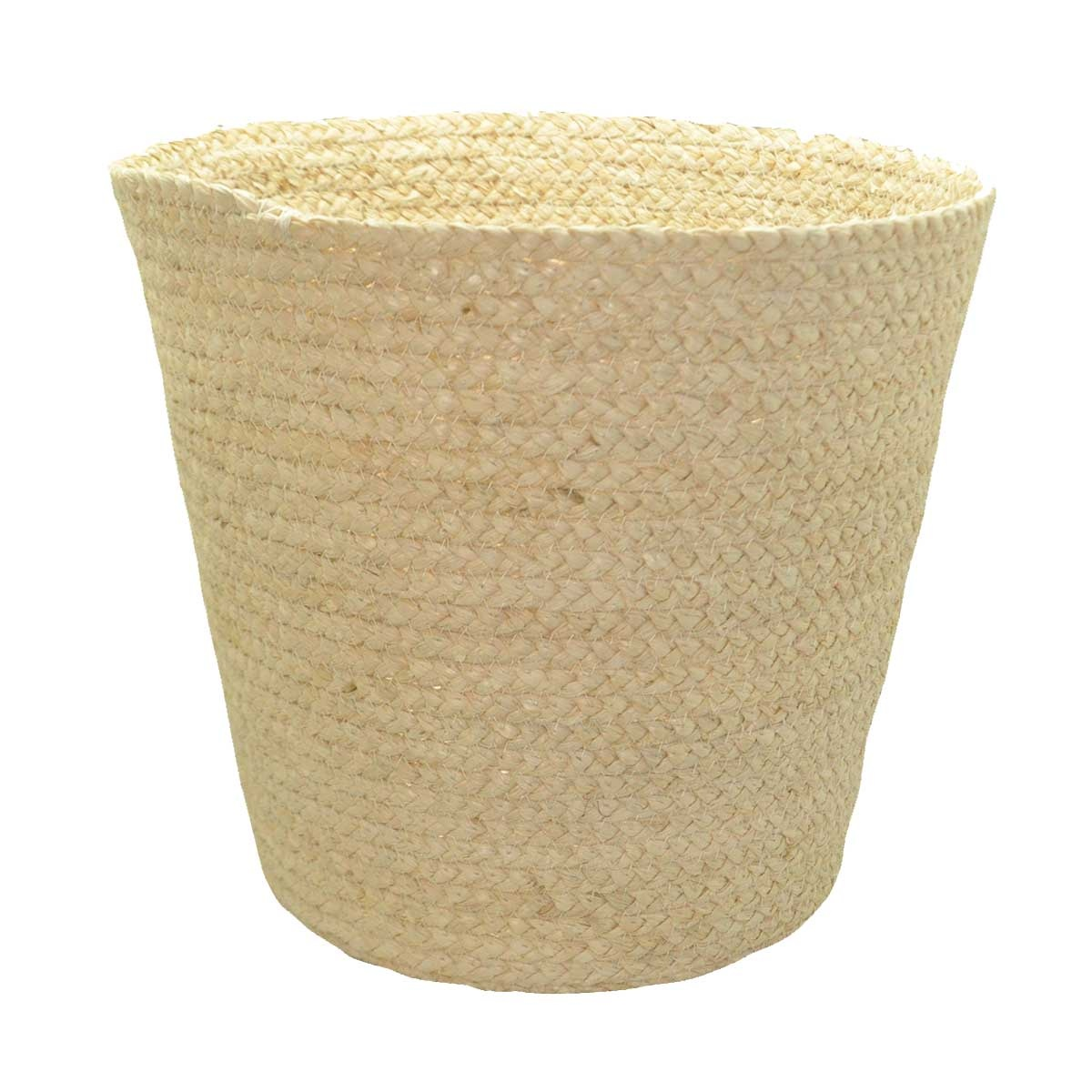 Poubelle naturelle en fibre de mais (Beige)