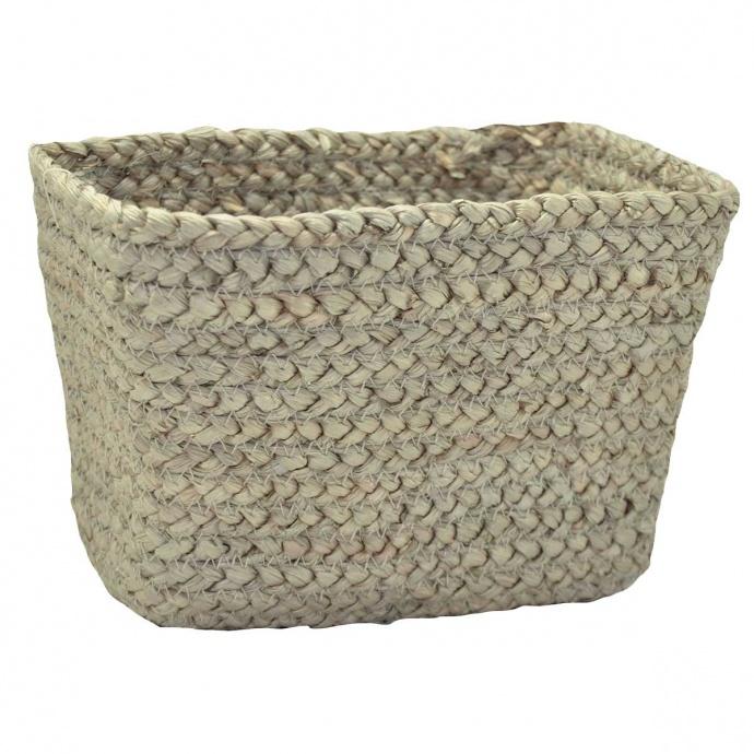 Panier rectangulaire en fibre de mais (Taupe)