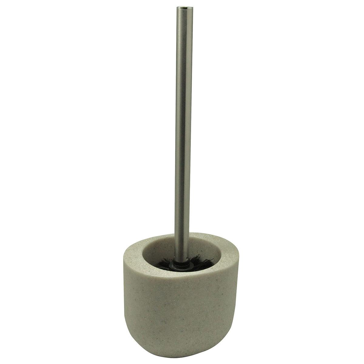 Pot et balai de toilette en résine sable (Sable)
