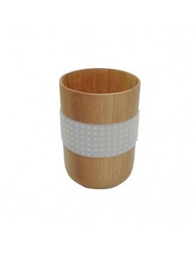 Gobelet en bois avec bande antidérapante
