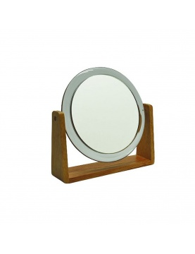 Miroir grossissant (x7) en bois