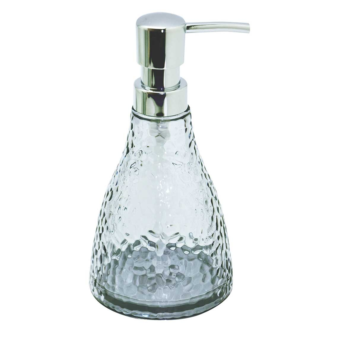 Distributeur de savon effet craquelé (Gris)