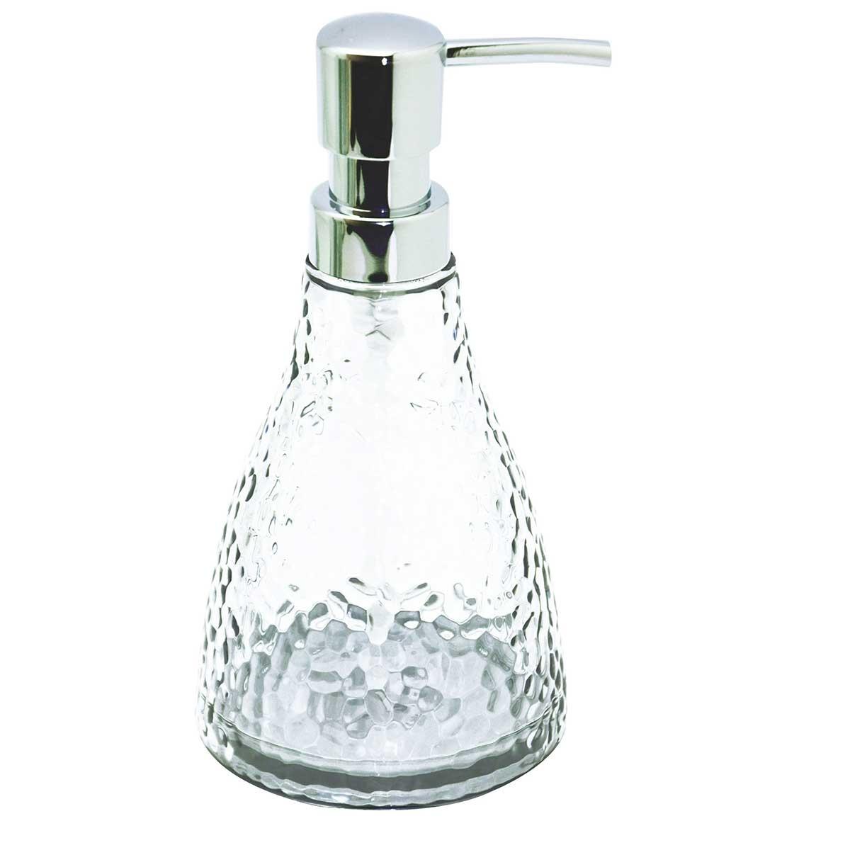 Distributeur de savon effet craquelé (Transparent)