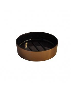 Porte savon effet cuivre