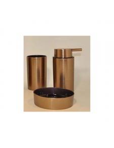 Set de 3 accessoires à effet cuivre