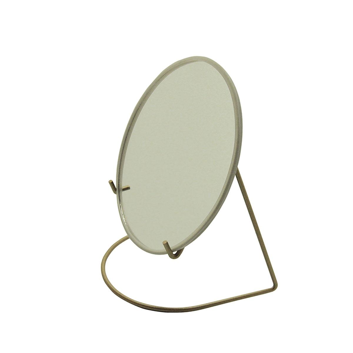 Miroir grossissant avec socle métal coloré (Laiton)