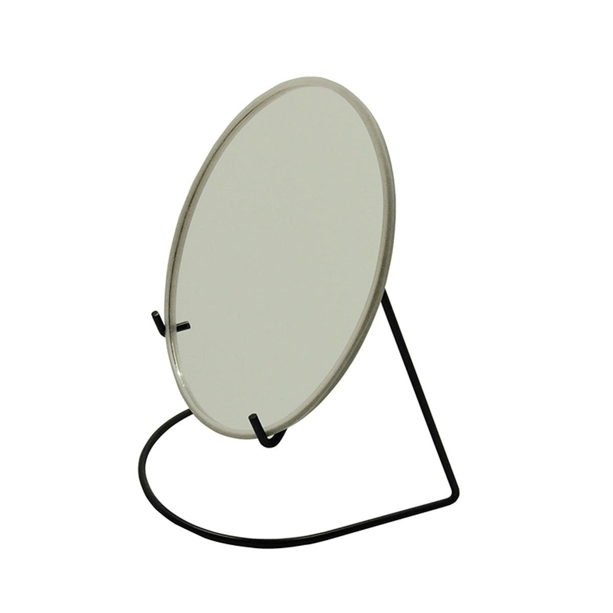 Miroir grossissant avec socle métal coloré (Noir)