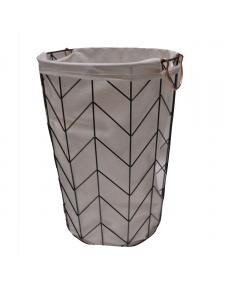 Lingère en métal géométrique avec sac en tissu