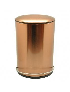 Poubelle ronde en métal à pédale
