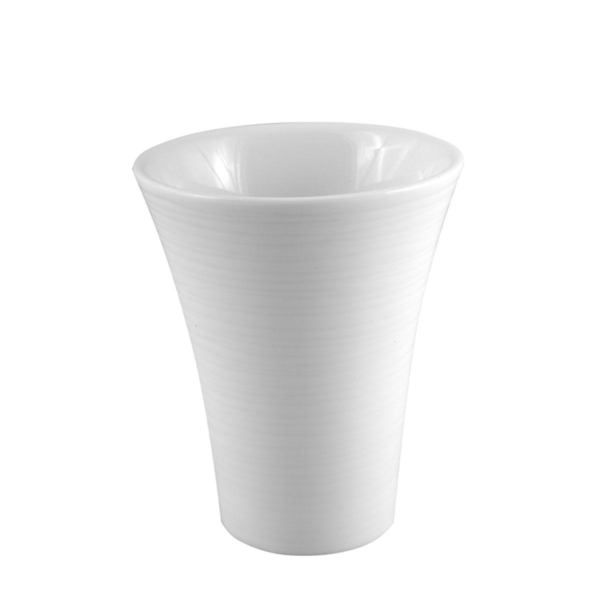 Gobelet en porcelaine rayée (Blanc)