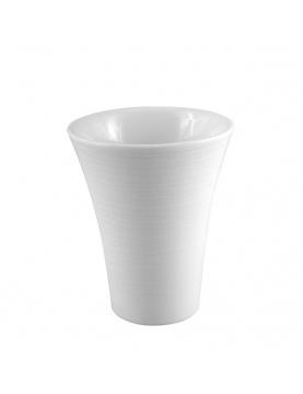 Gobelet en porcelaine rayée