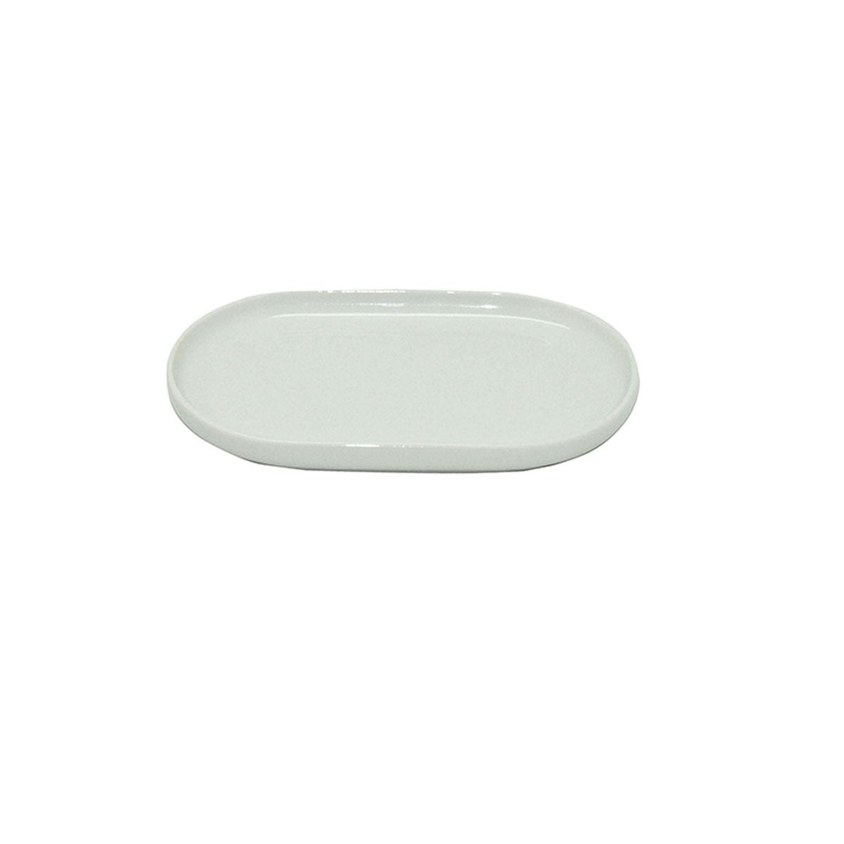 Porte savon en porcelaine (Blanc)