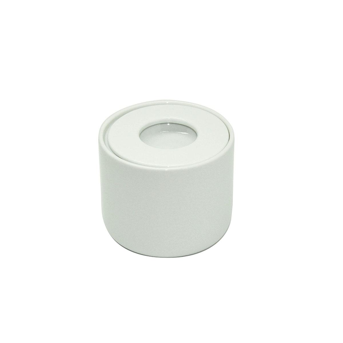 Pot à coton en porcelaine (Blanc)