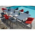 Salon de jardin esprit scandinave (Anthracite/Rouge)
